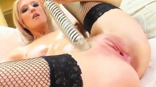 Stella being solo masturbating on Give Me Pink with passion