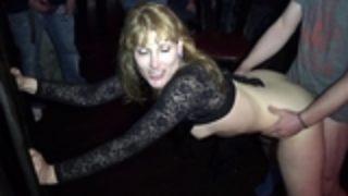 Naughty wife Nicole gangbanged by everybody at a club