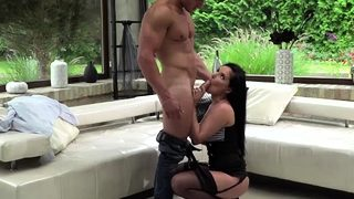 Sexy Lucias gets banged by two studs dick